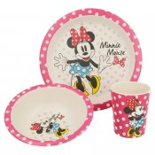 Minnie Mouse, ECO bambus, Aftensmad, 3 dele