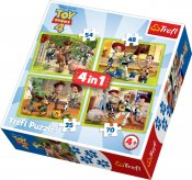 Toy Story puslespil 4, 4 i 1
