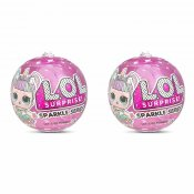 2 pak L.O.L. Surprise Dukker Sparkle Series Doll