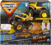 Monster Jam Monster Dirt legesæt - Kinetic Sand og Earthshaker Monster Truck