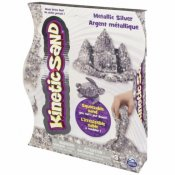 Kinetic Sand Metallic Silver