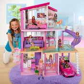 Barbie Dream House tre-etagers hus med møbler