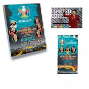 UEFA Euro 2020 kick off 2021 Fodbold Booster kort Limited Edition og Album samlekort