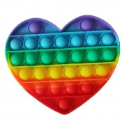 Pop It Bubble Fidget Heart Rainbow