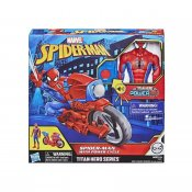 Spider-Man Hero FX Titanium Power Cycle med figur