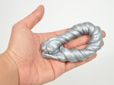Slime, Metallic Silver, i emballage, 57g